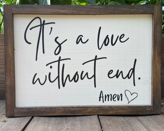 It's a Love Without End Amen, Gift for George Strait Fan, George Strait Gift, Wedding Gift for Couple, Country Music Sign