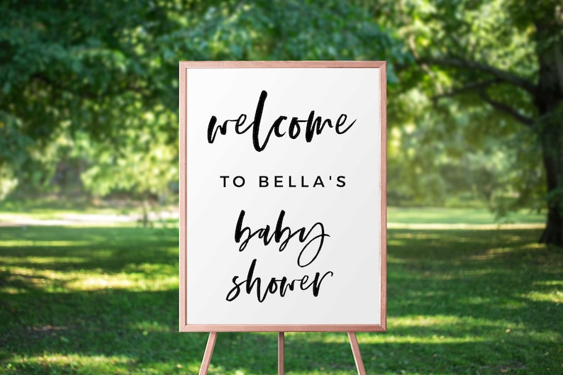Printable Baby Shower Baby Shower Welcome Poster Editable Baby Shower Welcome Sign INSTANT DOWNLOAD Template Printable Welcome Sign B68