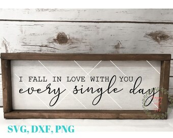 I Fall In Love With You Every Single Day svg, Love svg, I Love You svg, Love svg, Couple svg, Valentine SVG,Heart SVG
