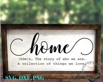 Home SVG, Home Definition Svg, Home Sign Svg, Wood Sign Svg, Rustic Sign Svg, Home SVG, Family Svg, SVG file, Cut file, Silhouette, Cricut