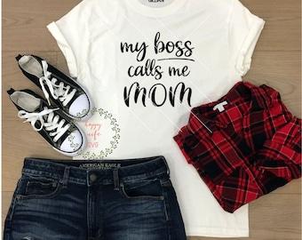 My boss calls me Mom SVG, Mom SVG, Mama SVG, Mother svg, Boss svg,mother svg, Silhoutte, dxf png