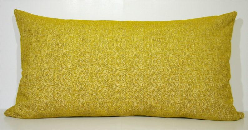 Couch Pillow Mustard Throw Pillow Bedroom Accent Pillow Large Rectangle Decorative Pillow 20 X 36 Large Lumbar