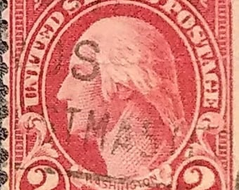 Rare George Washington Red 2 Cent Postage Stamp