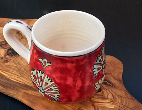 coffee cup Expresso cup,decorative tableware Iznik Porcelain Mug with Olive Wood StandGreen Tea Cup reclaimed olive wood