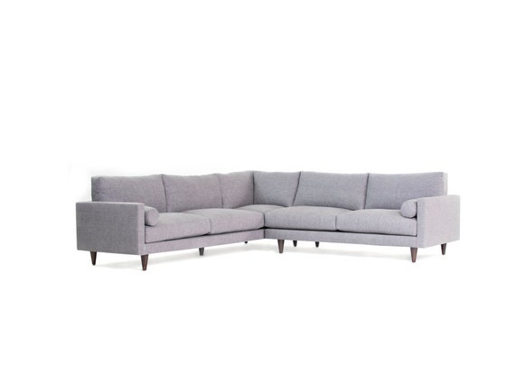 Brilliant Mid Century Dailey 108 Sectional Sofa Uwap Interior Chair Design Uwaporg