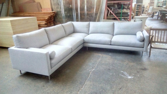 Groovy Mid Century Dailey 108 Sectional Sofa Uwap Interior Chair Design Uwaporg