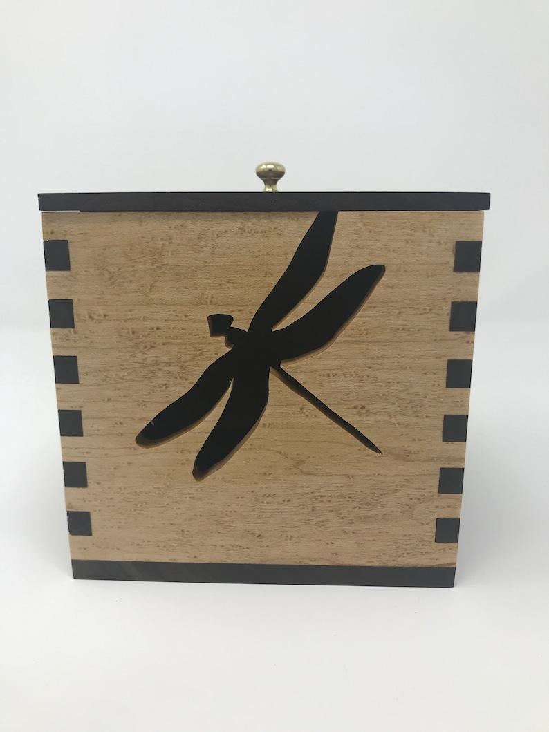 Maple Walnut Yarn Box