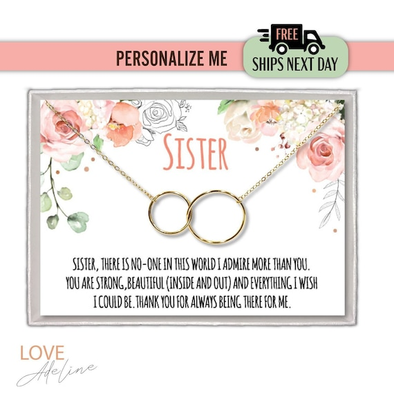 Sister Necklace For Gift Ideas Birthday