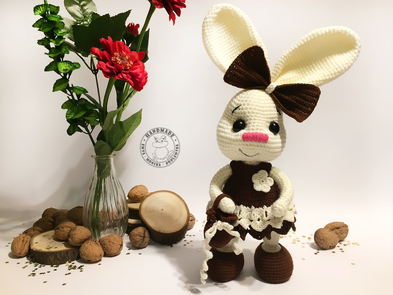 Pretty Bunny with floppy ears - Crochet Pattern - Amigurumi Today | 2250x3000