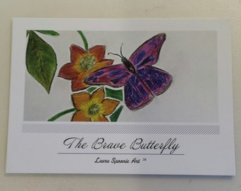 The BRAVE Butterfly Postcard - PMU Card
