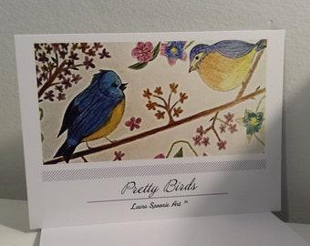 PRETTY Birds Postcard - PMU Card