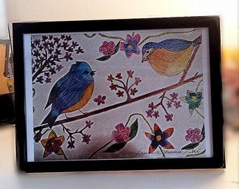PRETTY Birds - A4 Matte Print