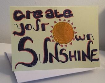 Create Your Own SUNSHINE sun design - PMU Card