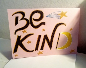 Be KIND star design - PMU CARD
