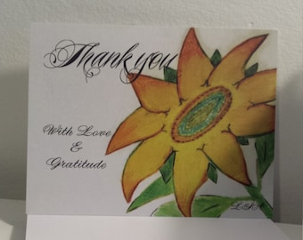 Lessons from a SUNFLOWER Postcard - PMU Card