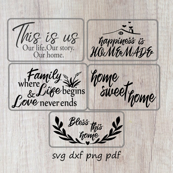 Farmhouse Bundle Svg Family Quote Signs Svg Sayings For Etsy