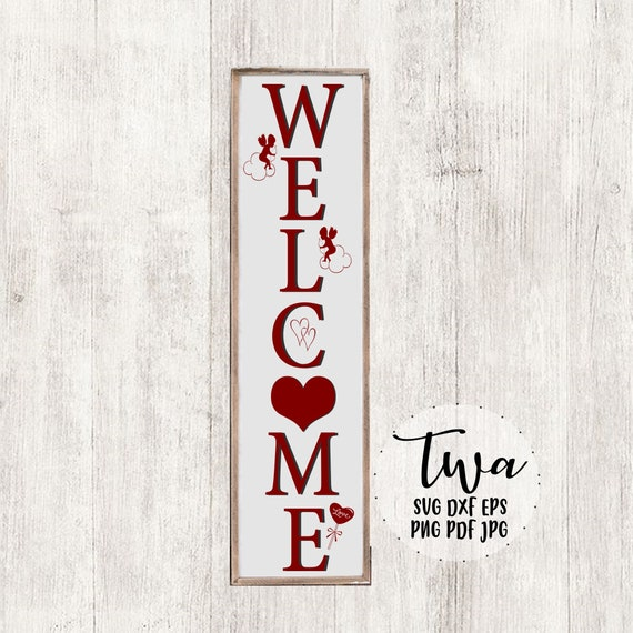Farmhouse Valentines Decor Front Door Welcome Sign Svg Etsy