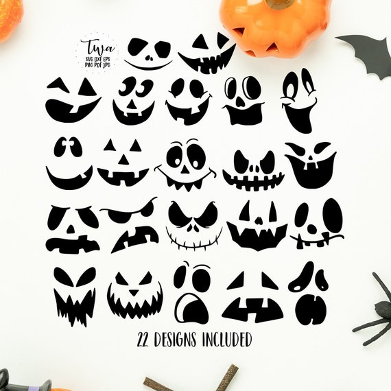 Halloween faces bundle svg boo svg ghouls svg cut files for