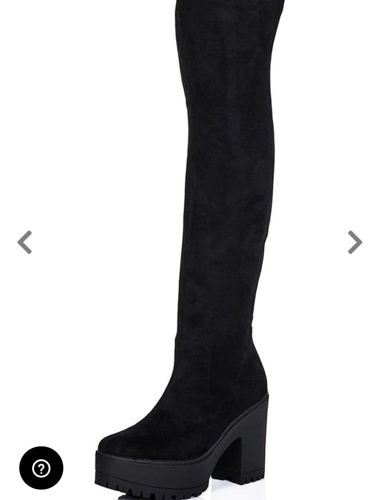 0e5ab184e8acf Wistle cleated sole stretch over knee boots black suede style   Etsy