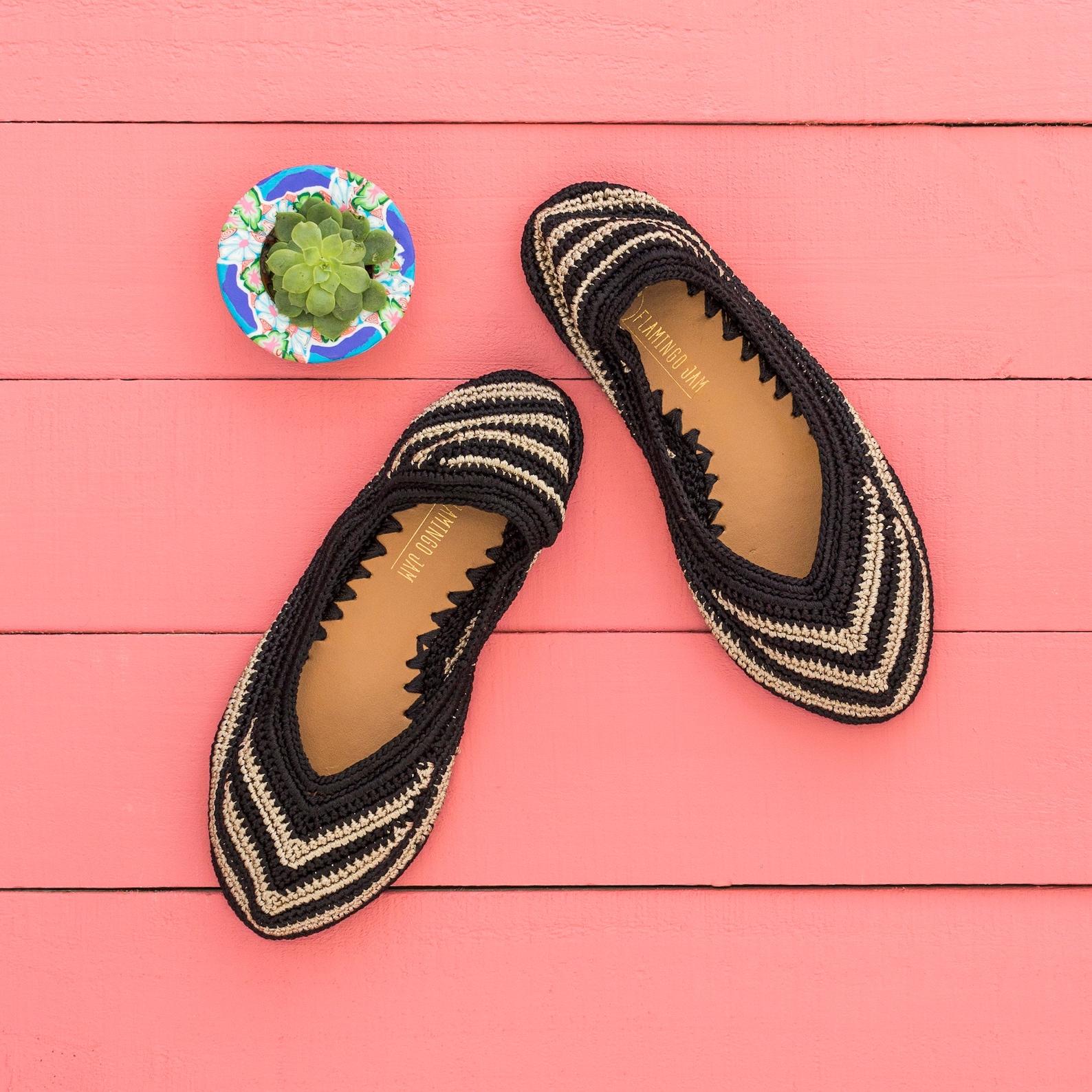 maui crochet ballet flat shoe