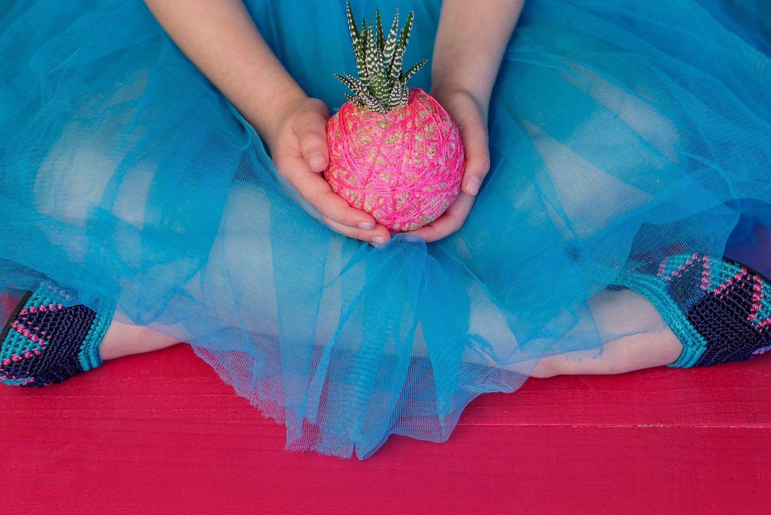 girl's ombak crochet ballet flat shoe