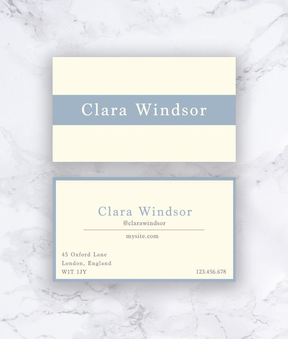 Professional Business Card Template Printable Business Cards Etsy