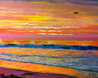 Beach Sunrise This is another Inspirational sunrise at Jones Beach in Pastels. 16x20 Un-Framed