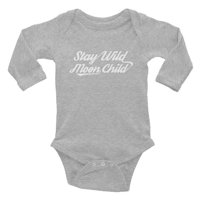 Retro Boho Baby Gift Bohemian Baby Celestial Baby Outfit Free Spirit Baby Stay Wild Moon Child Baby Bodysuit Lunar Yoga Baby