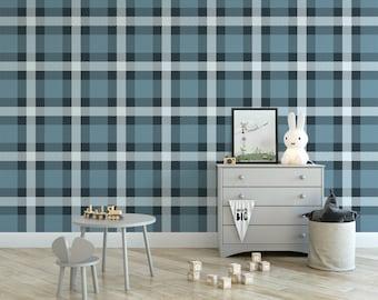 Edgy Plaid removable wallpaper  geometric self adhesive wallpaper  cozy temporary wallpaper G218-27