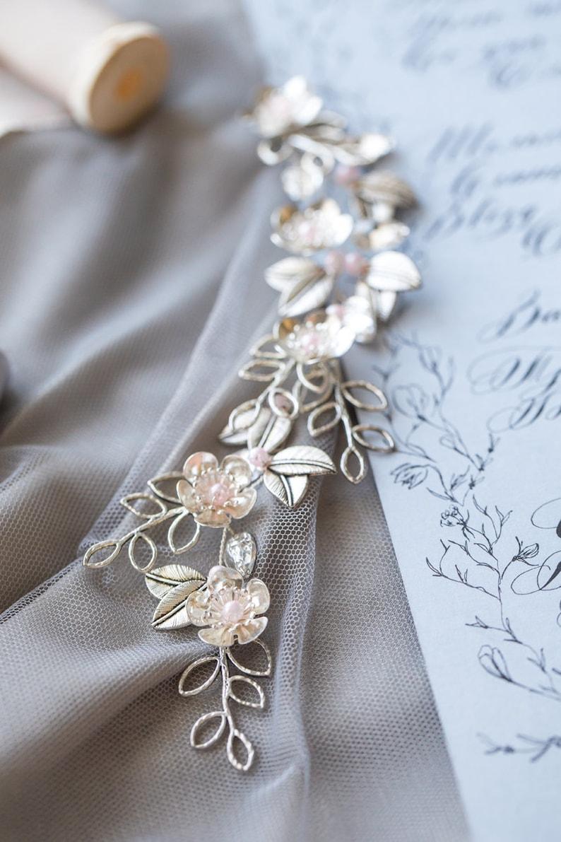 Wedding Hair Accessory Wedding Headpiece Metal Bridal Hair Piece Silver Bridal Silver Hair Comb Wedding Hair Vine Bridal Hair Jewelry