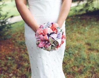 Origami wedding bouquet / paper bridal bouquet / original wedding bouquet / country wedding and boho