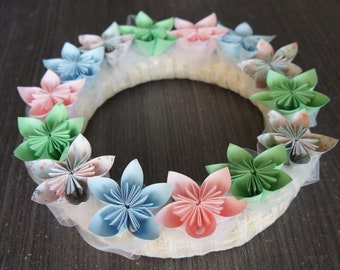 Christmas Wreath / Advent Crown / Origami Door Crown / Christmas Decoration