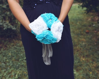 Wedding bouquet silk paper / bridal bouquet / original wedding bouquet