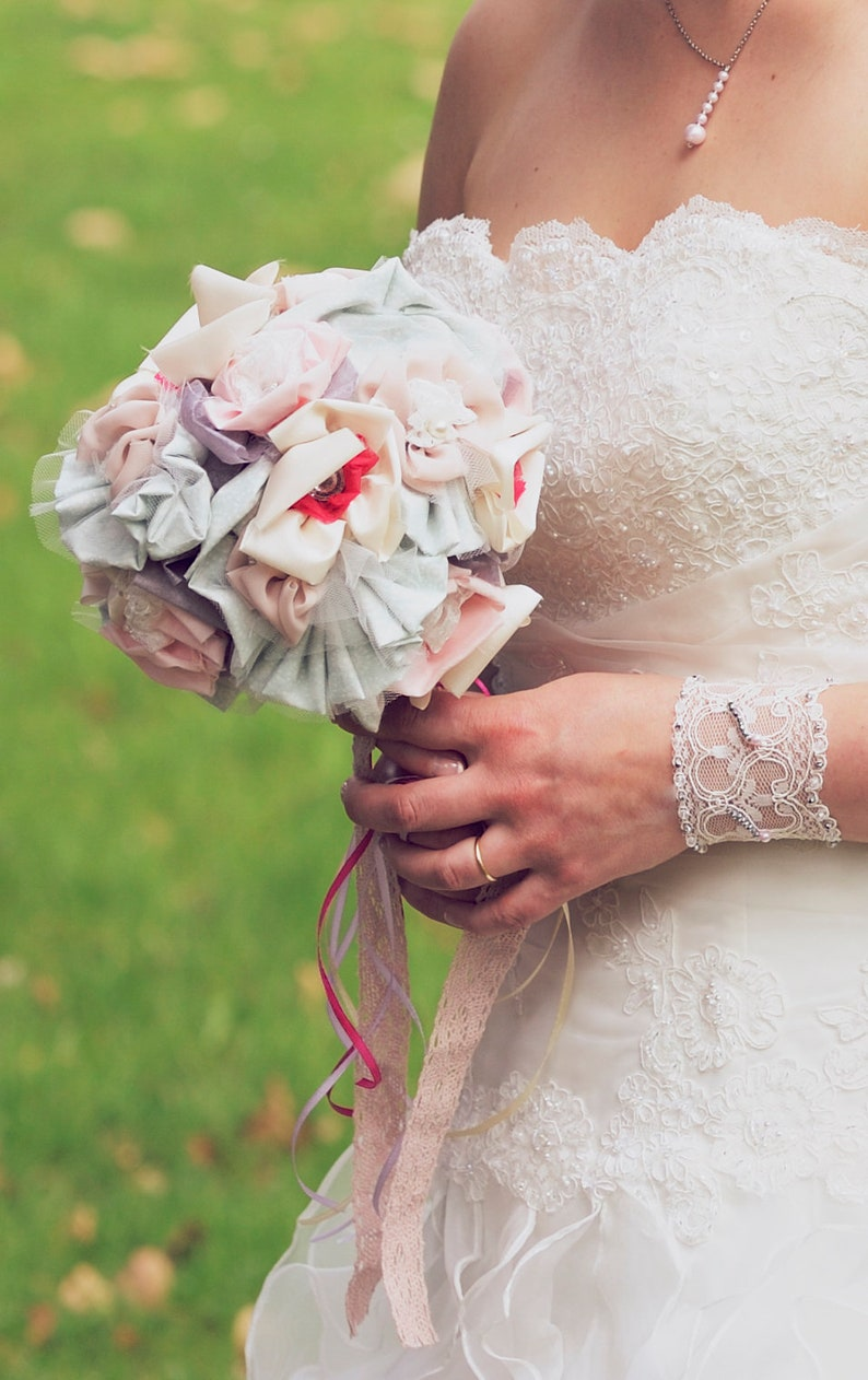 Cloth Bridal Bouquet Original Wedding Bouquet Fabric Etsy