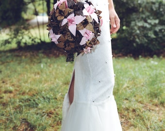Origami wedding bouquet / paper bridal bouquet / original wedding bouquet