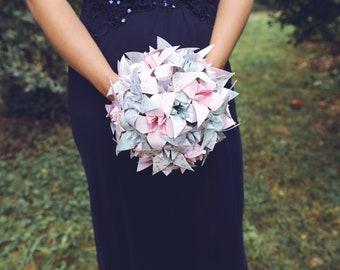 Origami flowers wedding bouquet / bridal bouquet / original wedding bouquet / romantic themed wedding