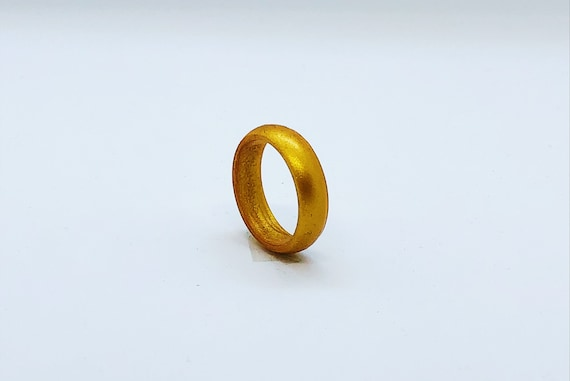Hypoallergenic Ring 5.6mm Gold Silicone Gold for Men Gym Ring Silicone Ring Safe Ring