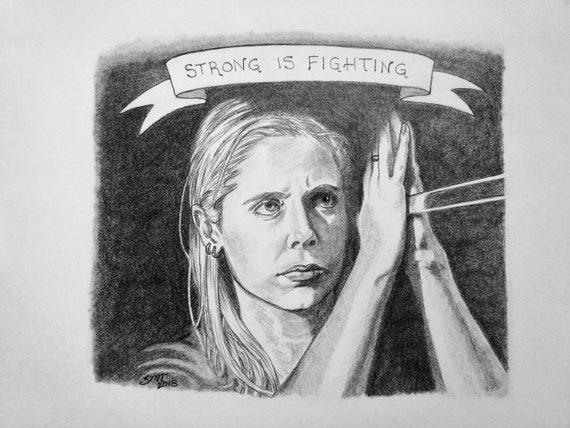 8x10 matted Buffy the Vampire Slayer