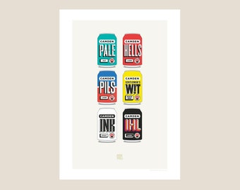 Craft Beer Poster Etsy