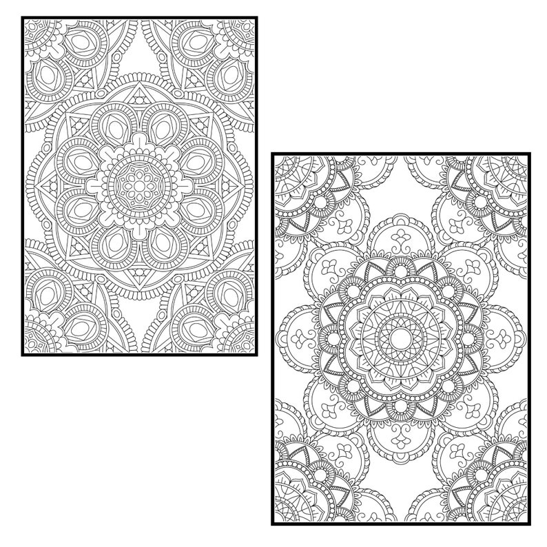 Mandala Coloring Pages for Adults Vol 4. PROCREATE Version ...