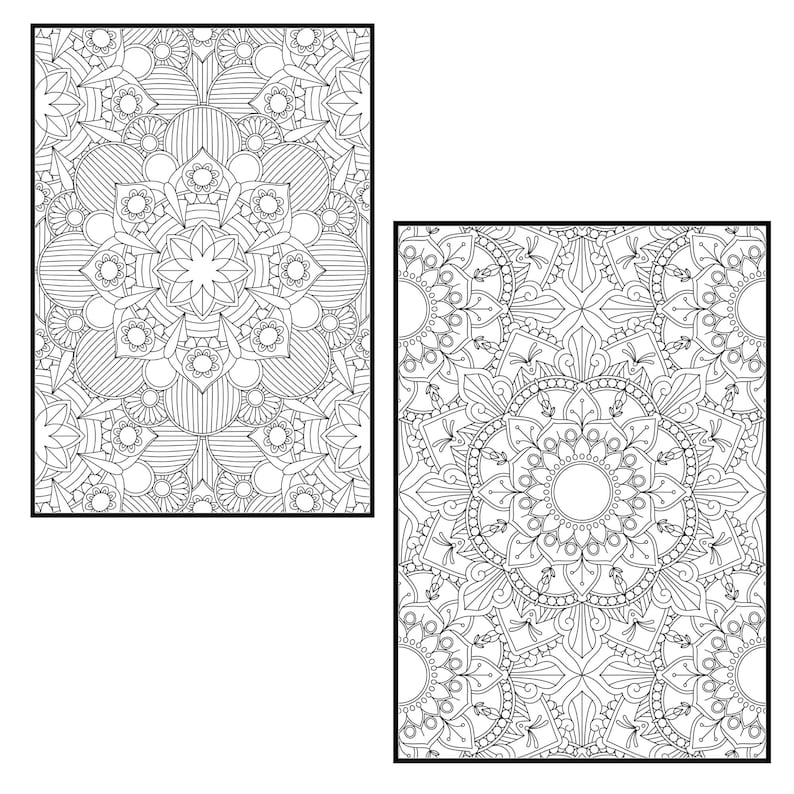 Mandala Coloring Pages for Adults Vol 6. PROCREATE Version ...