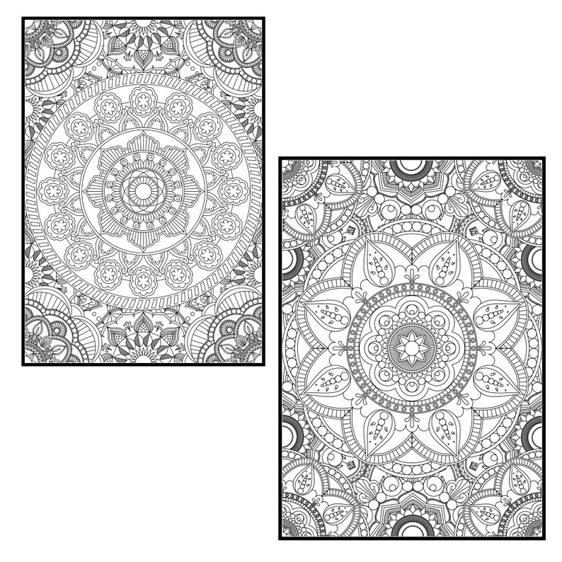 Mandala Collage Coloring Pages for Adults PROCREATE ...