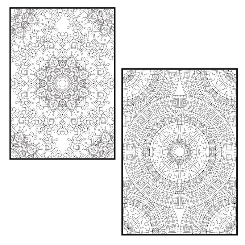 Mandala Coloring Pages for Adults Vol. 3 PROCREATE Version ...
