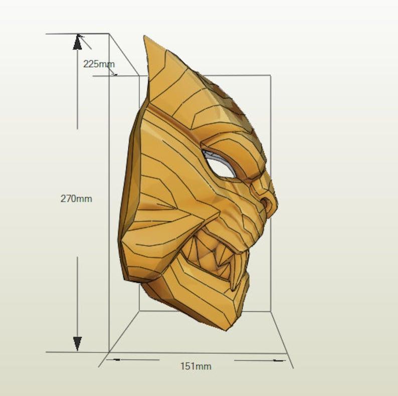 Master Key Mask Papercraft Pdf Pdo Pepakura Cosplay Game Props Paper Sckulpture Craft No Foam