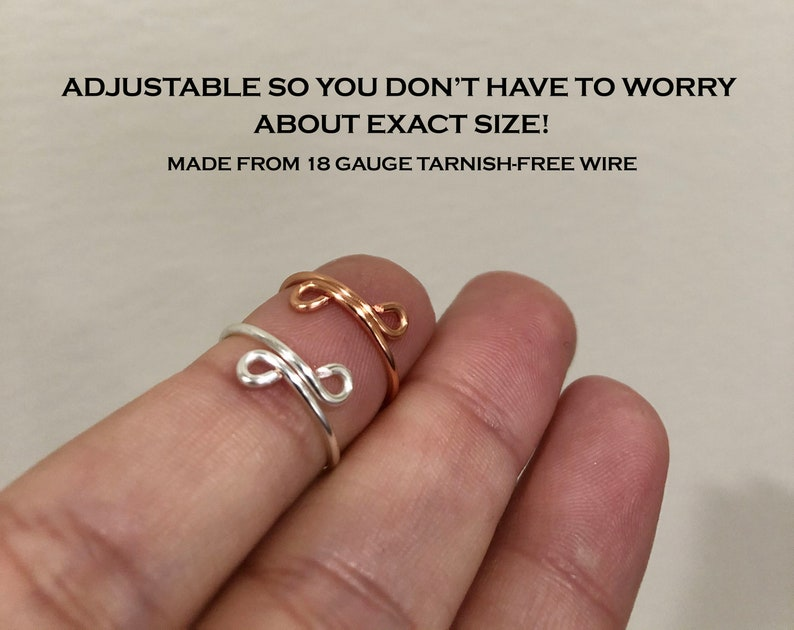 Fidget ring set of 3 anxiety ring dainty worry rings image 4