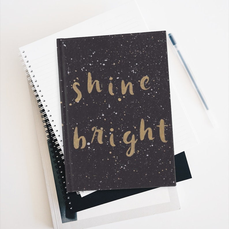 Shine Bright Gold/Silver Paint Splatter Songwriting Journal image 0