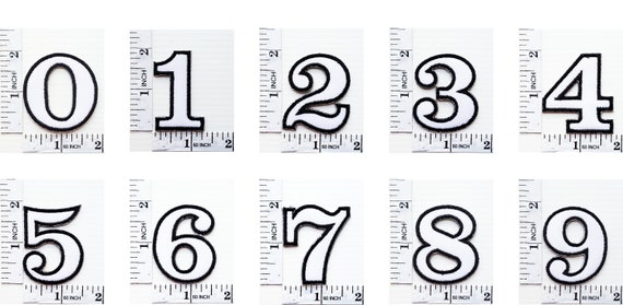 Black Number 6 Patches Appliques Hat Cap Polo Backpack Clothing Jacket Shirt DIY Embroidered Iron On  Sew On Patch