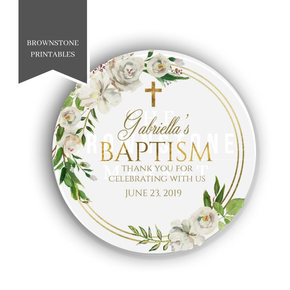 Baptism Stickers Favor Label Baby Dedication Stickers Girl Etsy
