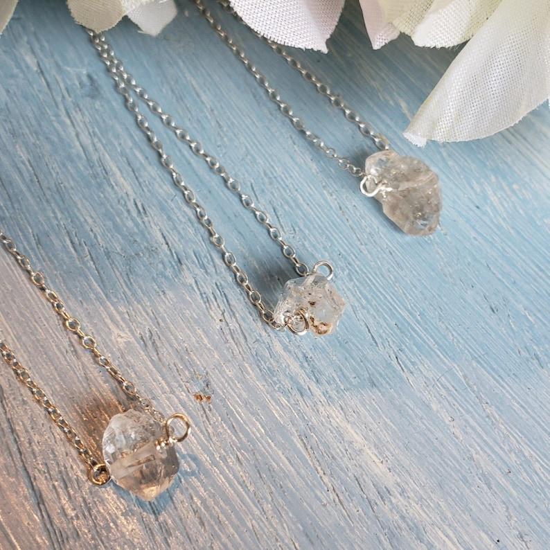Sterling Silver Necklace Herkimer Diamond Pendant