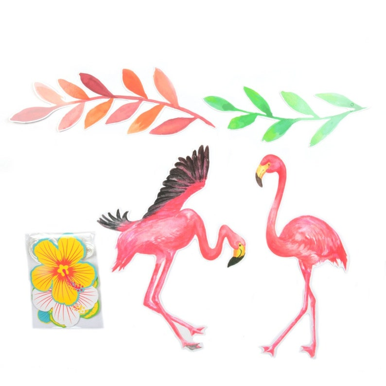 New! Summer Flamingo Party Banner/Flower Garland for Luau Beach Hawaiian  Party Birthday Party Decorations Kids Party Supplies